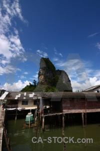 Tropical asia cloud limestone phang nga bay.