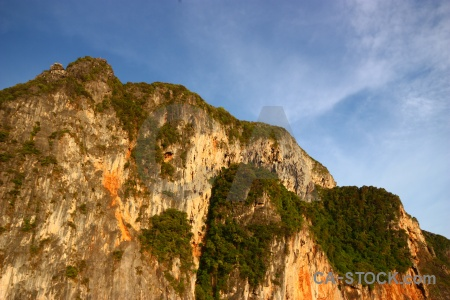Tropical cliff southeast asia phi island rock.