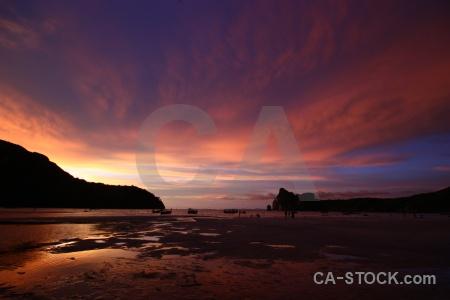Tropical sea southeast asia sunset island.