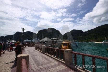 Tropical southeast asia building mountain island.