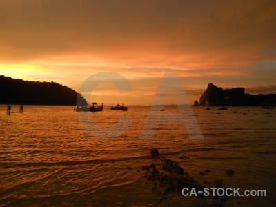 Tropical sunrise thailand sunset southeast asia.