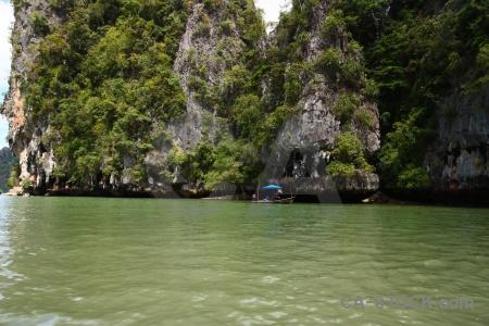 Tropical thailand southeast asia island limestone.