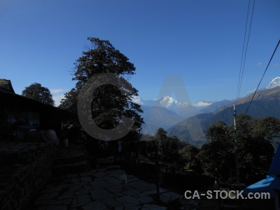 Tukche peak sky annapurna sanctuary trek mountain asia.