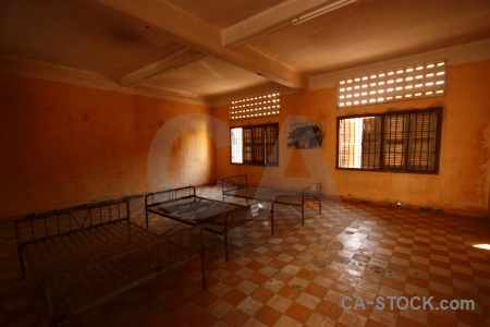Tuol sleng genocide museum southeast asia khmer rouge prison cambodia.
