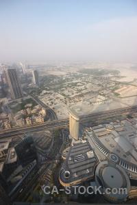 Uae aerial burj khalifa dubai cityscape.