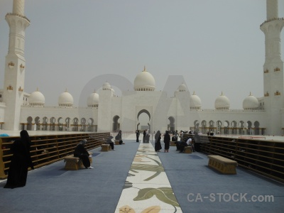 Uae building mosque abu dhabi asia.