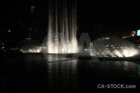 Uae dubai fountain night western asia.