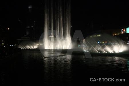 Uae dubai fountain night western asia.