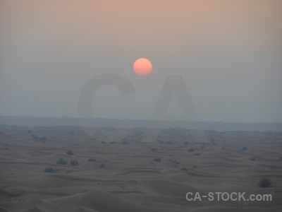 Uae sunset sunrise desert sand.