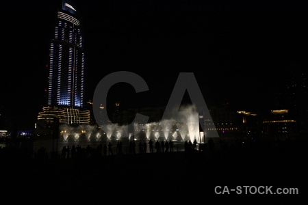 Uae western asia fountain building dubai.