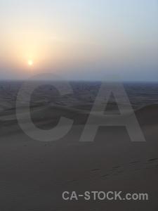 Uae western asia sun dune sky.