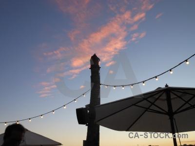 Umbrella sunrise javea europe cloud.
