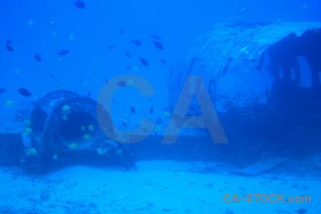 Underwater cyan blue.