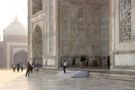 Unesco archway taj mahal person asia.