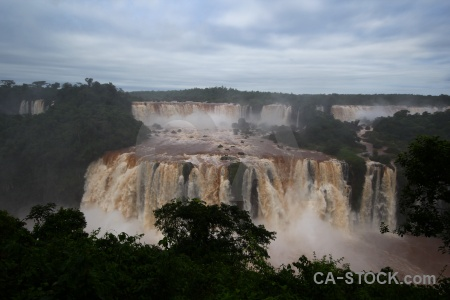 Unesco brazil iguazu river spray cloud.
