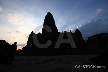 Unesco buddhist silhouette buddhism cambodia.