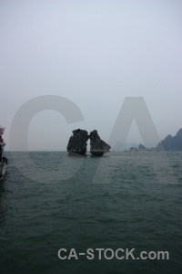 Unesco ha long bay cliff sea mountain.