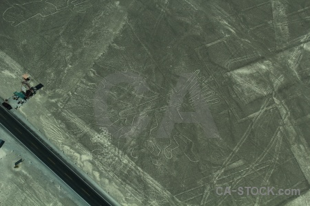 Unesco hands flying aerial geoglyph.