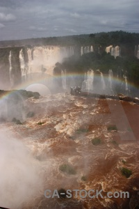 Unesco iguassu falls iguazu river tree cloud.