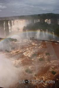 Unesco iguassu falls iguazu river tree cloud.