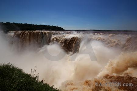 Unesco iguazu river iguacu falls garganta del diablo sky.