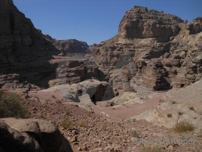 Unesco jordan carving petra cliff.