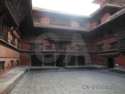 Unesco kathmandu building archway hanuman.