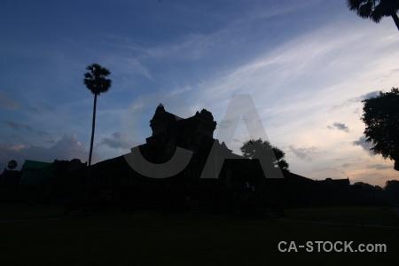 Unesco khmer sunrise southeast asia ruin.