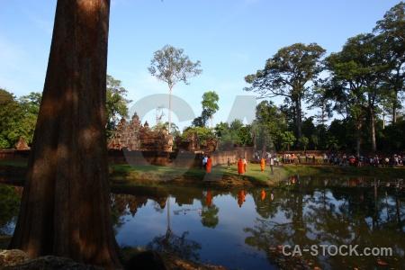Unesco monk stone tree sky.
