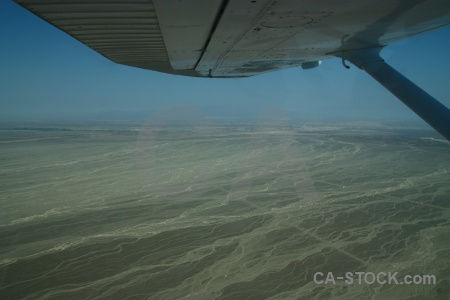 Unesco peru wing nazca lines flying.