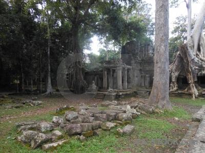 Unesco pillar preah khan angkor cambodia.