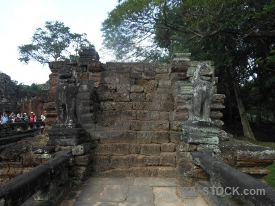 Unesco preah khan sky person temple.