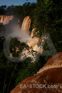 Unesco river argentina iguazu spray.