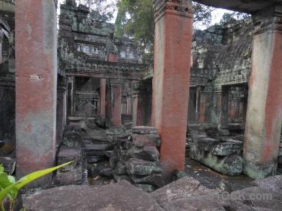 Unesco siem reap buddhism ruin cambodia.