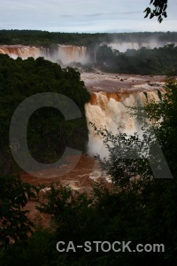 Unesco south america iguazu river brazil spray.