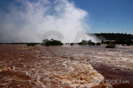 Unesco south america iguazu river spray iguacu falls.