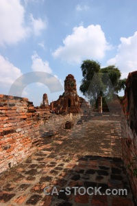 Unesco southeast asia sky cloud ayutthaya.