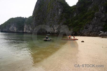 Unesco stone vietnam cliff sky.