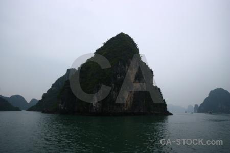 Unesco vietnam limestone sky water.