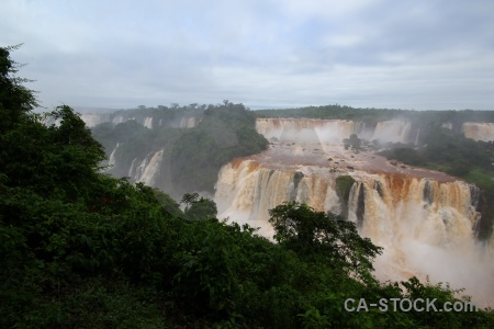 Unesco waterfall water iguazu river brazil.