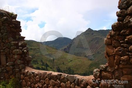 Urubamba valley peru bush landscape inca.