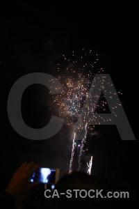 Valencia black fallas spain firework.