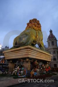 Valencia lion europe fallas statue.