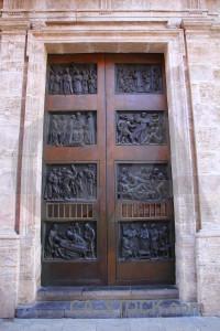 Valencia pink spain europe door.
