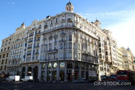 Valencia spain blue europe building.