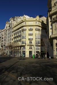Valencia spain building europe blue.