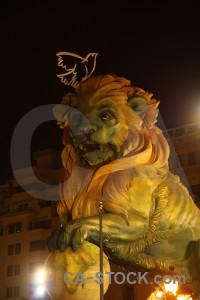 Valencia statue europe yellow orange.
