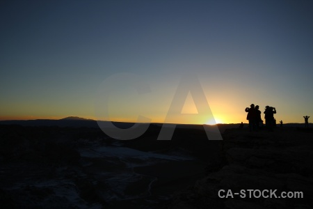 Valle de la luna atacama desert mountain chile landscape.