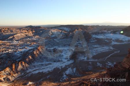 Valle de la luna atacama desert rock salt cordillera sal.