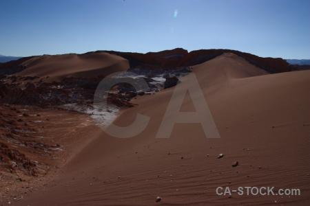 Valle de la luna desert dune chile salt.